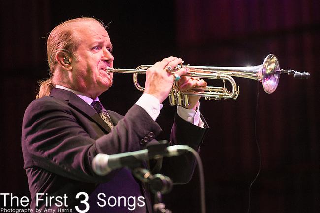 Lee Loughnane of Chicago performs at Riverbend Music Center in Cincinnati, Ohio.