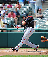 Richmond Flying Squirrels infielder Adam Duvall (8) during game against the Trenton Thunder at ARM & HAMMER Park on June 9 2013 in Trenton, NJ.  Trenton defeated Richmond 3-2.  Tomasso DeRosa/Four Seam Images