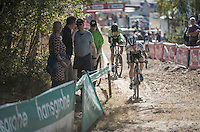 U23 CX World Champion Eli Yserbyt (BEL/U23/Marlux-Napoleon Games) drops back quite dramatically during the race<br /> <br /> CX Superprestige Zonhoven 2016