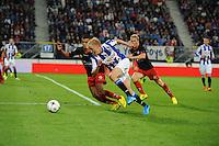 VOETBAL: HEERENVEEN: Abe Lenstra stadion 23-08-2014, SC Heerenveen - Excelsior uitslag 2 - 0, Morten Thorsby, ©foto Martin de Jong