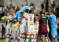 Orlando, FL - Saturday Jan. 21, 2017: São Paulo celebrate the 4-3 penalty shootout victory during the Florida Cup Championship match between São Paulo and Corinthians at Bright House Networks Stadium. The game ended 0-0 in regulation with São Paulo defeating Corinthians 4-3 on penalty kicks.