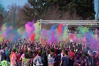 Holi Festival of Colors, Redmond, WA, USA.
