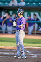 Niko Decolati (16) of the Grand Junction Rockies bats during a game against the Ogden Raptors at Lindquist Field on September 7, 2018 in Ogden, Utah. The Rockies defeated the Raptors 8-5. (Stephen Smith/Four Seam Images)