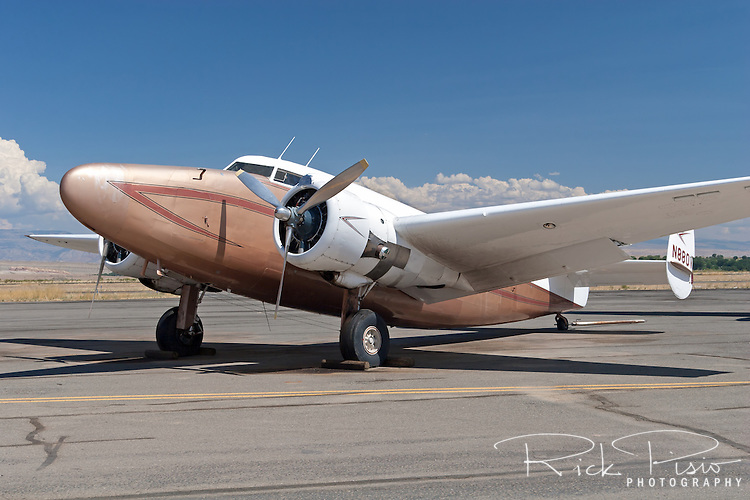 The Hawkins & Powers Lockheed L-18 Lodestar was one of the vintage aircraft that was up for auction in August of 2006.