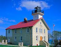 Ozaukee County, WI   <br /> Port Washington lighthouse (1849) on Lake Michigan, Port Washington, WI