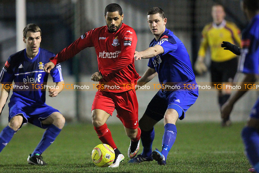 Kacey Adams in action for Redbridge - Aveley vs Redbridge - Ryman League Division One North Football at Mill Field, Aveley, Essex - 23/03/15 - MANDATORY CREDIT: TGSPHOTO - Self billing applies where appropriate - contact@tgsphoto.co.uk - NO UNPAID USE