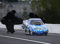 Mar 18, 2016; Gainesville, FL, USA; NHRA top alcohol funny car driver Tony Bogolo during qualifying for the Gatornationals at Auto Plus Raceway at Gainesville. Mandatory Credit: Mark J. Rebilas-USA TODAY Sports