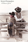 A fine art photograph of a cowboy and his son. Cowboy Photos, riding,roping,horseback