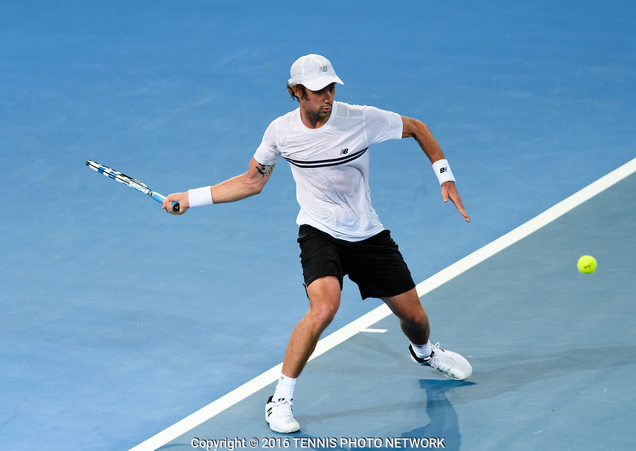 JORDAN THOMPSON of AUSTRALIA (AUS) <br /> <br /> 2017 BRISBANE INTERNATIONAL, PAT RAFTER ARENA, BRISBANE TENNIS CENTRE, BRISBANE, QUEENSLAND, AUSTRALIA<br /> <br /> &copy; TENNIS PHOTO NETWORK