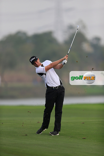 Lucas Blerregaard (DEN) on the 18th fairway during Round 4 of the BMW Masters at Lake Malaren Golf Club in Boshan, Shanghai, China on Sunday 15/11/15.<br /> Picture: Thos Caffrey | Golffile<br /> <br /> All photo usage must carry mandatory copyright credit (&copy; Golffile | Thos Caffrey)