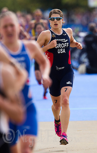 06 AUG 2011 - LONDON,GBR - Sarah Groff (USA) - women's round of triathlon's ITU World Championship Series .(PHOTO (C) NIGEL FARROW)