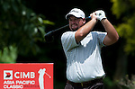 Brendon De Jonge tees off at the eighth hole during Round 2 of the CIMB Asia Pacific Classic 2011.  Photo © Andy Jones / PSI for Carbon Worldwide