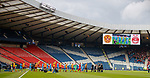 Not many fans at Hampden to watch Motherwell and Aberdeen at lunchtime on Saturday