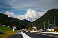 Jun 16, 2017; Bristol, TN, USA; Overall view of Bristol Dragway as NHRA funny car drivers race during qualifying for the Thunder Valley Nationals. Mandatory Credit: Mark J. Rebilas-USA TODAY Sports