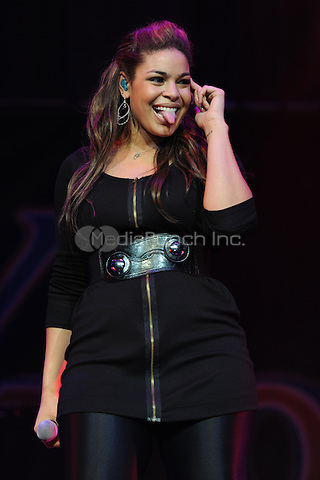 SUNRISE, FL - DECEMBER 12 : Jordan Sparks preforms at the Y-100 Jingle ball held at the Bank Atlantic center on December 12, 2009 in Fort Lauderdale Florida. Credit: mpi04/MediaPunch