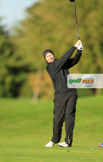 Phillip Collins (Galgorm Castle G.C) on the 13th tee during Round 1 of The Cassidy Golf 103rd Irish PGA Championship in Roganstown Golf Club on Thursday 10th October 2013.<br /> Picture:  Thos Caffrey / www.golffile.ie