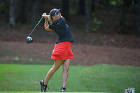 Ceilia Barquin Arozamena (a)(ESP) watches her tee shot on 18 during round 1 of the U.S. Women's Open Championship, Shoal Creek Country Club, at Birmingham, Alabama, USA. 5/31/2018.<br /> Picture: Golffile | Ken Murray<br /> <br /> All photo usage must carry mandatory copyright credit (© Golffile | Ken Murray)