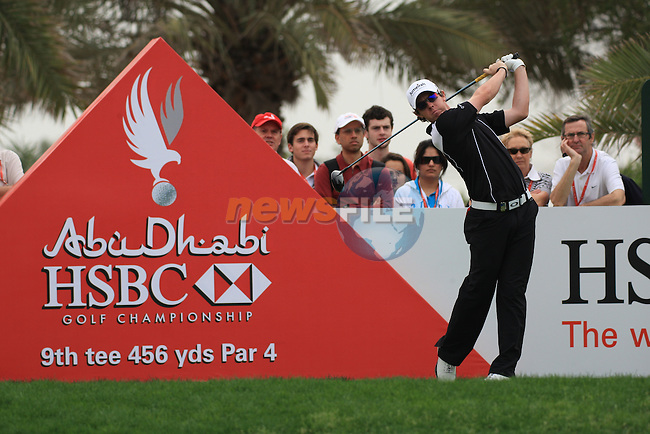 Rory McIlroy teeing off on the 9th tee on day one of the Abu Dhabi HSBC Golf Championship 2011, at the Abu Dhabi golf club, UAE. 20/1/11..Picture Fran Caffrey/www.golffile.ie.