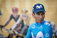 Na&iuml;ro Quintana (COL/Movistar) awaiting the Team Presentation.<br /> <br /> Le Grand D&eacute;part 2018<br /> 105th Tour de France 2018<br /> &copy;Kramon
