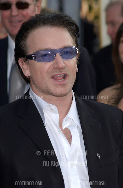 U2 star BONO at the Golden Globe Awards at the Beverly Hills Hilton Hotel..19JAN2003..
