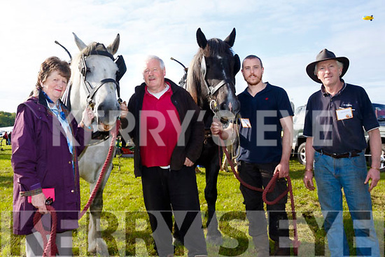 Old style<br /> -----------<br /> L-R Joan Trant, Jerry Dennehy with Seamus&amp;Moss Trant from Tralee at the under 40 horse class at the ploughing championships last Tuesday in Tullamore.