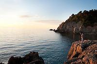 Coastline near Talamone, in the Maremma district of Tuscany, Italy