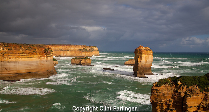 islands, Loch Ard Gorge area, Port Campbell National Park, along the Great Ocean Road, Victoria, Australia