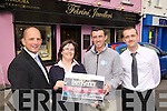 Shane O'Sullivan This Weeks Buy Kerry Winner from Dromid, will spend his winnings at Fe?iri?ni? Jewellers in Cahersiveen.  Pictured here l-r; Brendan Kennelly(Marketing Manager Kerry's Eye), Elma Sugrue(Manager Cahersiveen Credit Union), Shane O'Sullivan - Winner & Alan Foster(Prop Fe?iri?ni? Jewellers).