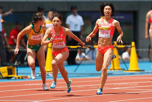 Kana Ichikawa, <br /> MAY 8, 2016 - Athletics : IAAF World Challenge Seiko Golden Grand Prix in Kawasaki <br /> Women's 4400m Relay <br /> at Todoroki Stadium, Kanagawa, Japan. <br /> (Photo by Sho Tamura/AFLO SPORT)
