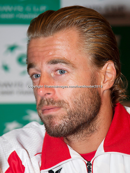 11-sept.-2013,Netherlands, Groningen,  Martini Plaza, Tennis, DavisCup Netherlands-Austria,  Oliver Marach (AUT)<br /> Photo: Henk Koster