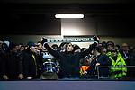 © Joel Goodman - 07973 332324 . 08/12/2015 . Manchester , UK . Borussia Monchengladbach fans watching Manchester City vs Borussia Monchengladbach in the UEFA Champions League at the Etihad Stadium . Photo credit : Joel Goodman