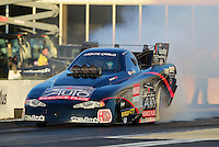 May 4, 2012; Commerce, GA, USA: NHRA funny car driver Blake Alexander during qualifying for the Southern Nationals at Atlanta Dragway. Mandatory Credit: Mark J. Rebilas-