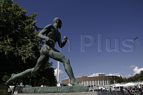 5 August 2005: General view of the Helsinki Olympic Stadium on the eve of the 10th IAAF World Athletic Championships, Helsinki, Finland. Photo: Glyn Kirk/Actionplus....050805 venues