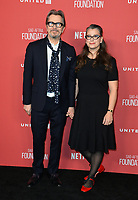 Gary Oldman &amp; Gisele Schmidt  at the SAG-AFTRA Foundation's Patron of the Artists Awards at the Wallis Annenberg Center for the Performing Arts. Beverly Hills, USA 09 November  2017<br /> Picture: Paul Smith/Featureflash/SilverHub 0208 004 5359 sales@silverhubmedia.com