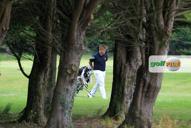 Max Martin (England) on the 1st fairway during Round 3 of the Irish Boys Amateur Open Championship at Tuam Golf Club on Thursday 25th June 2015.<br /> Picture:  Thos Caffrey / www.golffile.ie