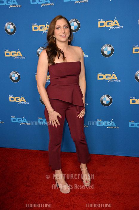 Chelsea Peretti at the 70th Annual Directors Guild Awards at the Beverly Hilton Hotel, Beverly Hills, USA 03 Feb. 2018<br /> Picture: Paul Smith/Featureflash/SilverHub 0208 004 5359 sales@silverhubmedia.com
