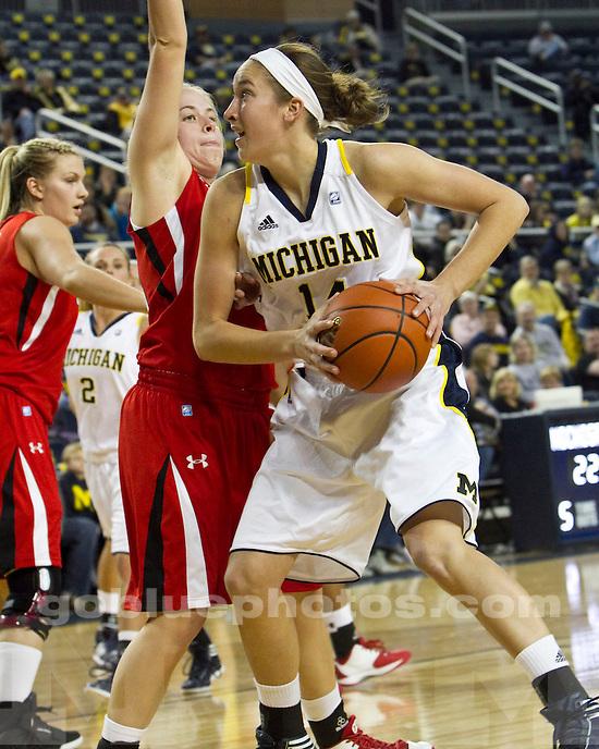 The University of Michigan women's basketball team beat Utah, 55-50, at Crisler Arena in Ann Arbor, Mich., on November 17, 2011.