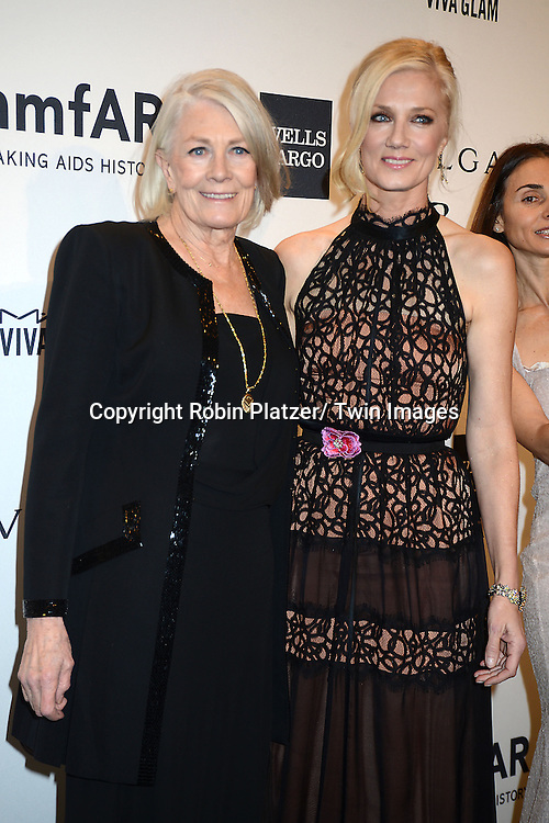 Vanessa Redgrave and Joely Richardson attends the amfAR New York Gala on February 5, 2014 at Cipriani Wall Street in New York City.