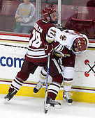 Doug Kublin (UMass - 18), Brian Gibbons (BC - 17) - The Boston College Eagles defeated the University of Massachusetts-Amherst Minutemen 5-2 on Saturday, March 13, 2010, at Conte Forum in Chestnut Hill, Massachusetts, to sweep their Hockey East Quarterfinals matchup.