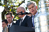 Owner of the St. Louis Blues Tom Stillman speaks during an event hosted by United States President Donald J. Trump, where he honored the 2019 Stanley Cup Champions at the White House in Washington D.C., U.S. on Tuesday, October 15, 2019.<br /> <br /> Credit: Stefani Reynolds / CNP