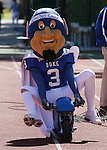 14 October 2006: The Duke Blue Devil mascot rides into the stadium on a mini-motorcycle. The Florida State University Seminoles defeated the Duke University Blue Devils 51-24 at Wallace Wade Stadium in Durham, North Carolina in an Atlantic Coast Conference NCAA Division I College Football game.