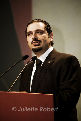 Discours de Saad Hariri, ancien premier ministre et leader du Courant du Futur, au BIEL lors de la commémoration de l'assassinat de Rafic Hariri, le 14 fevrier 2011 - Speech of Saad Hariri, former prime minister and leader of the Movement of the Future, at the BIEL during the commemoration of Rafik Hariri's assassination, february 14, 2011.