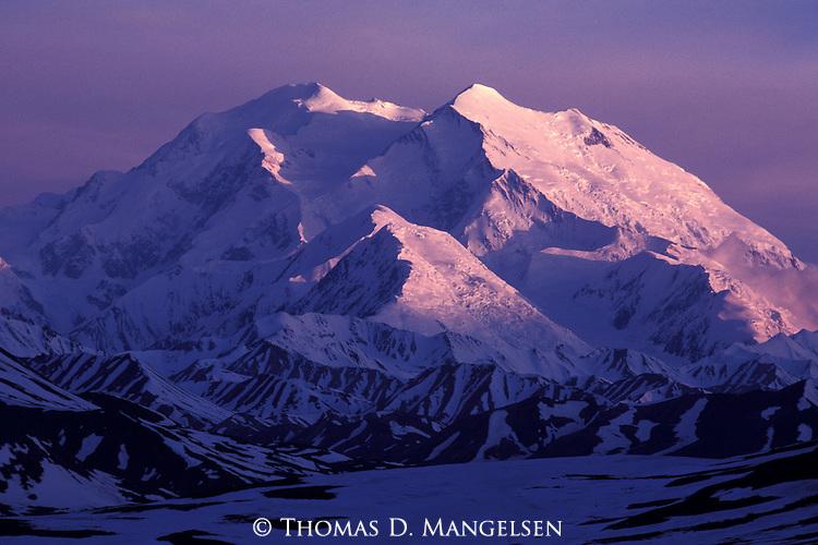 Mount McKinley in early morning light in Denali National Park, Alaska.