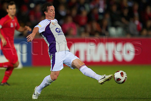 Robbie Fowler passes the ball - Action from the 8th round of the 2010 / 2011 Hyundai A-League Season between Adelaide United and Perth Glory FC played at Hindmarsh Stadium, Adelaide, South Australia, Friday, September 24th, 2010 Image shows Robbie Fowler - Perth