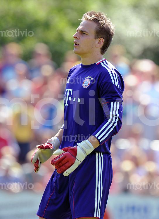 FUSSBALL  1. BUNDESLIGA   SAISON 2010/2011  TESTSPIEL Fanclub Lohner Bayern Union - FC Bayern Muenchen     26.06.2010 Rouven SATTELMEIER (FC Bayern Muenchen)