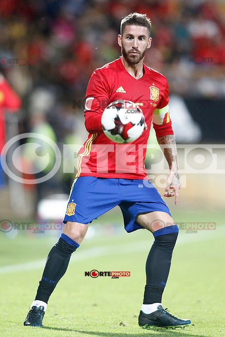 Spain's Sergio Ramos during FIFA World Cup 2018 Qualifying Round match. September 5,2016.(ALTERPHOTOS/Acero) /NORTEPHOTO