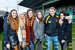 Danika O'Grady, Tara Casey, Amy Phelan, Brid Kissane, John Egan and Stephanie Egan, Dr Crokes fans, pictured at the Munster Senior Club final Dr. Crokes v St Joseph's Miltown-Malbay at the Gaelic Grounds Limerick, on Sunday last.