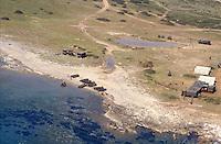 - training of S.Marco battalion navy infantrymen at Cape Teulada military polygon in Sardinia....- addestramento dei fanti di marina del battaglione S.Marco nel poligono militare di capo Teulada in Sardegna