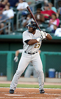 Dee Brown / Salt Lake Bees in a game against the Tucson Sidewinders in Tucson, AZ - 09/01/2008 ..Photo by:  Bill Mitchell/Four Seam Images