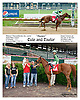 Cole and Taylor winning at Delaware Park on 7/27/13